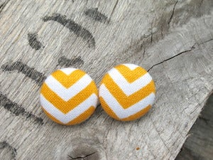 Image of Chevron Button Earring Collection 1