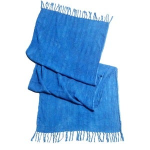 Image of Indigo Woven Cotton Wrap