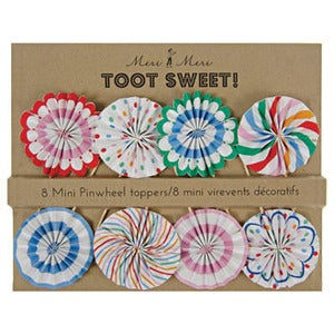 Image of Toot Sweet Mini Pinwheel Cake Toppers