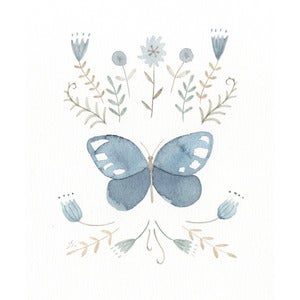 Image of Blue Butterfly-original drawing