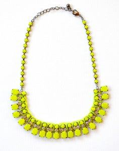 Image of Neon Yellow Bib Necklace