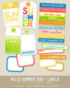 Image of *NEW* Hello Summer Tags + Labels (Digital)