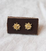 Image of Gold Flower Studs