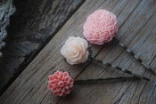 Image of Shades of Coral Bloom Hair Pin Set