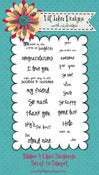 Image of Rainbows & Clouds Sentiment Stamp Set