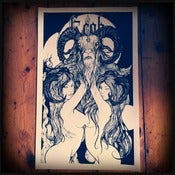 Image of Kroh - Horns Screen Print (Black)