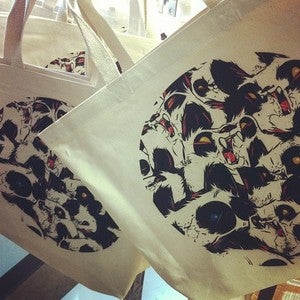 Image of Fur & Fang 2 Large Tote Bag