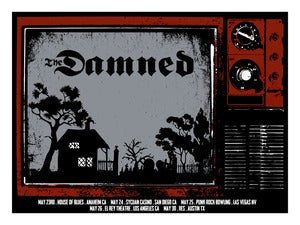 Image of The Damned - 2013 West Coast Tour Poster