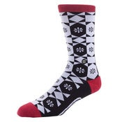 Image of Stance Pickle Socks - White / Black / Red / Tyler Warren pro model