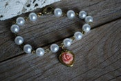 Image of Vintage Pearl Locket Bracelet