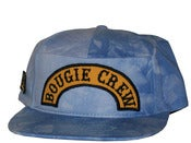 Image of Dope Couture Worldwide Boogie Crew Blue Tie Die Snapback Hat Caps