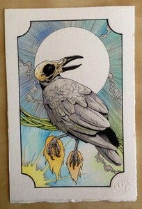 Image of A crow original painting.