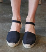 Image of Black Wedge Espadrille
