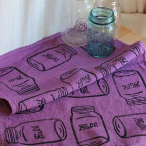 Image of Mason Jar Tea Towel