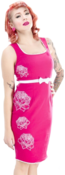 Image of Sourpuss 'Hot to Trot' Dress Pink