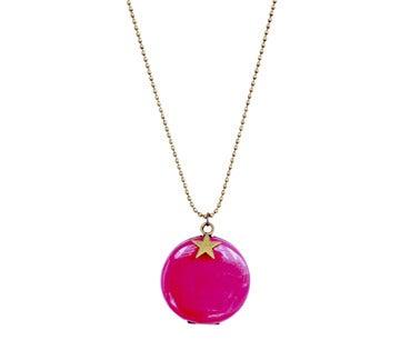 sautoir médaillon fluo bijoux fantaisie en ligne bijou créateur pas cher