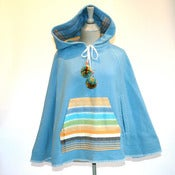 Image of Blue Blanket Poncho