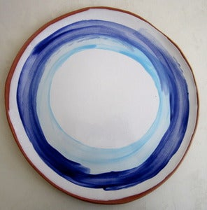 Image of round terracotta platter