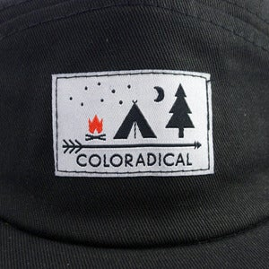 Image of Coloradical Black 5 Panel Camper Hat