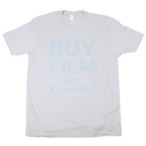 Image of BUY FILM NOT MEGAPIXELS Tee | Gray on Gray