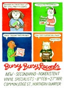 Image of Busy Busy Records Poster