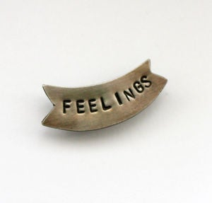 Image of FEELINGS Banner Pin by Thora Ford