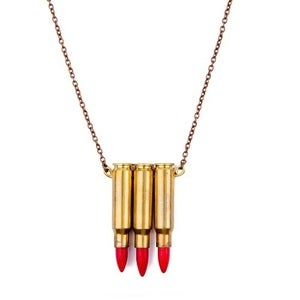 Image of JAKIMAC - Red Triple Bullet Necklace