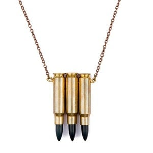 Image of JAKIMAC - Black Triple Bullet Necklace