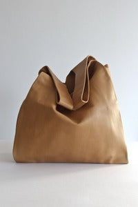 Image of Baggu tan leather bag