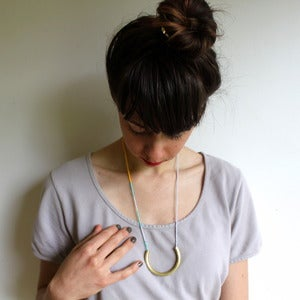 Image of Seedbead + Brass Necklace