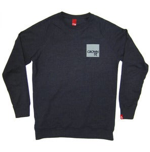 Image of CORONET SWEATER navy marle/dirty sky