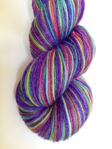 Image of A Happy Yarn - GothSock self striping yarn - Ricin luxury bamboo blend yarn 440yds