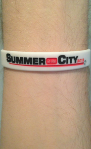 Image of Summer in the City Wristband - Straight Logo