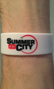 Image of Summer in the City Wristband - Full Logo