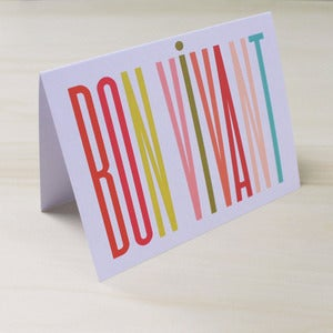Image of Bon Vivant Card