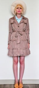 Image of Ruffled Trench Coat