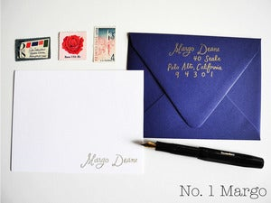 Image of Custom calligraphy stamp gift set