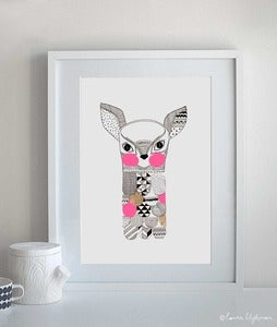 Image of Feathered Fawn / Framed Original Artwork