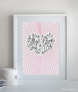 Image of It's Called Love / Framed Original Artwork