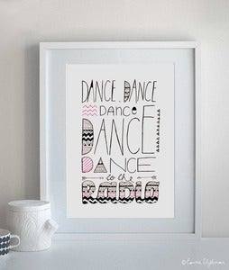 Image of Dance To The Radio / Original Framed Artwork
