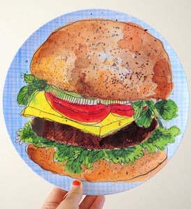 Image of Ultimate New York Burger And Fries Melamine Set