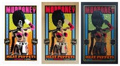 Image of SOLD OUT - Set of all 3 Mudhoney - Meat Puppets - Metz London Silkscreen Posters