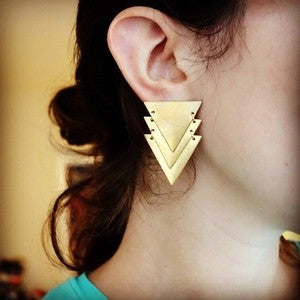 Image of Triple Triangle Studs