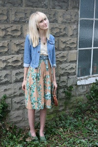 Image of Garden Rose Print Skirt