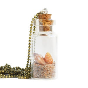 Image of Bottled Treasures - Sandy Beach Necklace