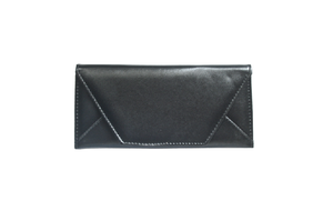 Image of Plain Flat Thin Zipper Envelope Clutch Wallet