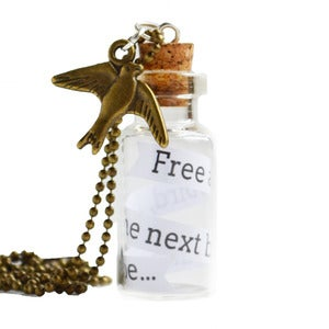 Image of Bottled Treasures - Free as a Bird Necklace
