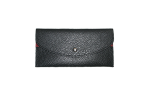 Image of Pattern Flat Slim Thin Button Clutch Wallet