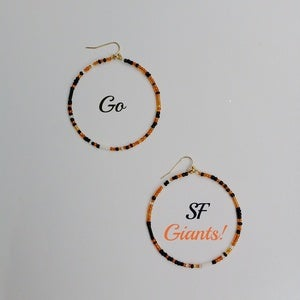 Image of SF Giants Hoop Earrings
