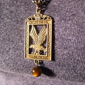 Image of Bronzed Eagle Necklace